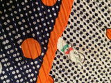 Plisse Polka Dots Scarf Made in Italy Vintage Accessories