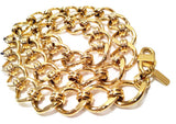 monet vintage jewelry golden chain link necklace