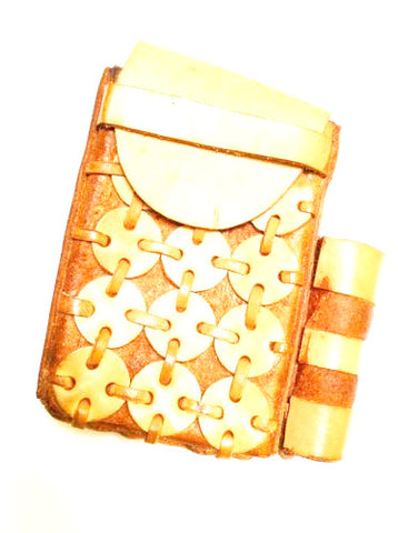 Festival Dressing Cigarette and Lighter Handmade Leather Case