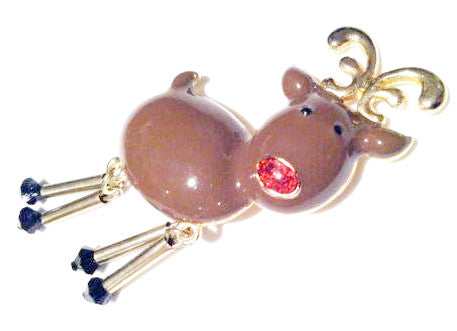 Haskell Figural Jewelry Reindeer Pin Brooch