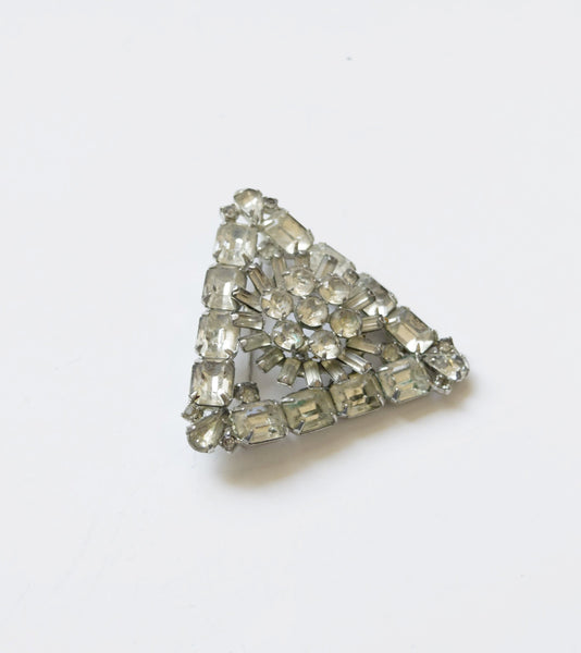 Weiss Diamond Rhinestones Brooch Pin Vintage Jewelry