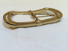 Gold Metal Buckle Logo brand W Quality Golden Belt Accessory True Vintage Bold