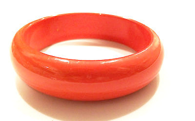 Orange Lucite Bangle Vintage Plastic Jewelry
