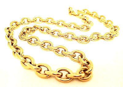 Monet Vintage Jewelry Golden Chain Necklace Gold Plated