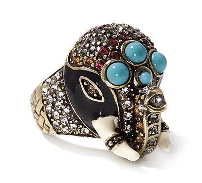 Heidi Daus Jewelry Queen of Siam Crystal Enamel Ring