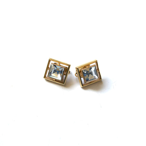 Avon Sparkling Clip on Earrings Vintage Costume Jewelry
