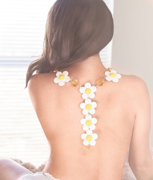 Sugar Gay Isber Daisy Floral Necklace Handmade Jewelry