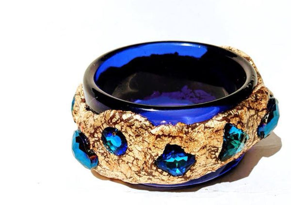 Sugar Gay Isber Cobalt Blue Vintage Bangle Contemporary Jewelry