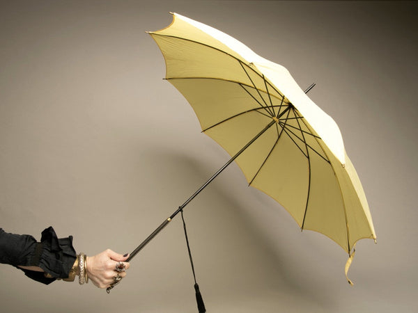 Yellow Vintage Umbrella Rain Accessory