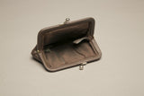 Leather Coin Bag Brown Pouch Little Purse Vintage Accessory