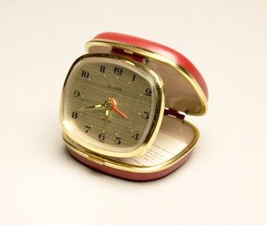 travel alarm clock by sloan made in japan vintage desktop clock