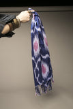 Vintage Oblong Scarf Metallic Blue Pink Accessory