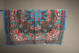 European Wrap Style Vintage Floral Scarf Made in Japan