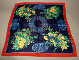 Wonderful Large Floral Wrap Scarf Vintage Accessories
