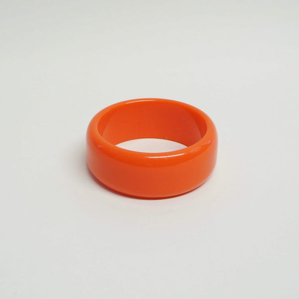 Orange Bakelite Bangle Bracelet Vintage Plastic Jewelry