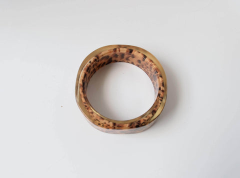 Animal Print Resin Bracelet Vintage Plastic Jewelry