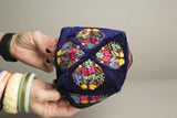 Ethnic Kids Hat Handmade Embroidered Colorful Velvet Toque Childrens Hat