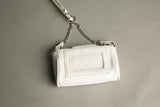 Nine West Bag White Faux Leather Cute Little Cross Body Style Hands Free Wallet Vintage Purse 90s