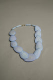Blue Bone Beaded Necklace Ethnic Vintage Jewelry
