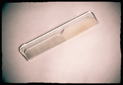 Translucent Hair Comb Clear Plastic Vintage Unisex Accessory Comb