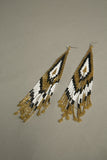Shoulder Duster Earrings Handmade Beaded Vintage Jewelry