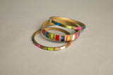 Set of 3 Bangles Brass Bracelet Ethnic Handmade Vintage Jewelry