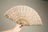 Antique Fan Spectacular articulated Hand held fan Accessory