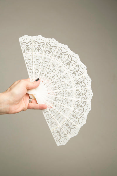 Plastic Brise Fan Articulated Ivory-like Plastic hand Held Fan Accessory