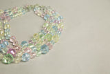 Multicolored Crystal Necklace Vintage Jewelry made in Western Germany