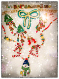 Snowman Figural Novelty Necklace Whimsical Vintage Jewelry
