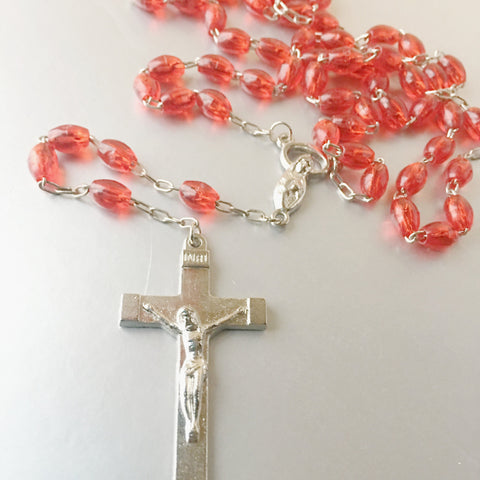 Roman Catholic Rosary Prayer Beads Necklace Religious Jewelry