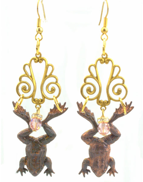 Sugar Gay Isber Jumping Frogs Earrings Contemporary Jewelry