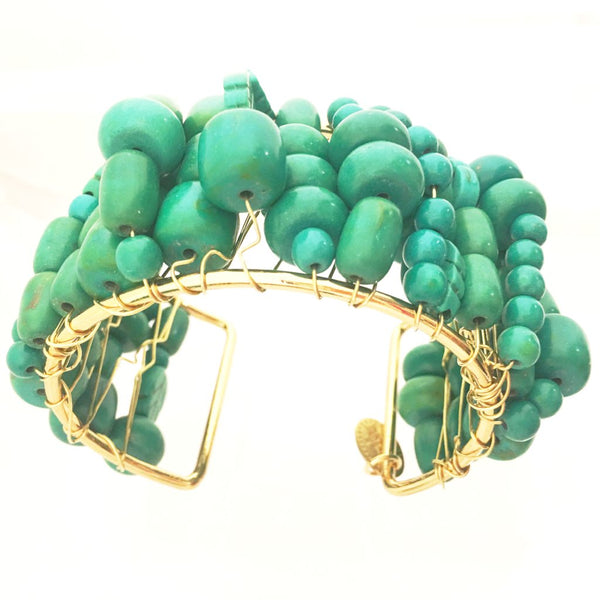 Sugar Gay Isber Green Howlite Handmade Contemporary Jewelry