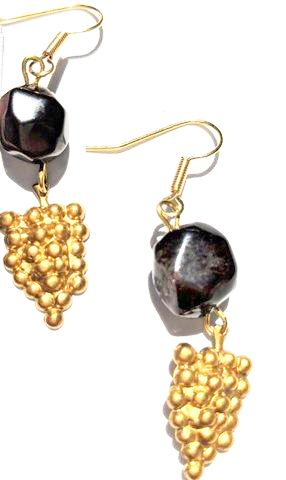 Sugar Gay Isber Vintage Grapes Earrings Contemporary Jewelry
