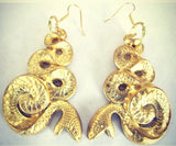 gay isber jewelry figural snake earrings statement bold bijoux