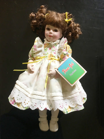 Flower Girl Exclusive Ceramic Bisque Doll Vintage Toy Decor