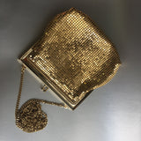 Gold Mesh Metal Purse Shoulder Bag Vintage Accessory