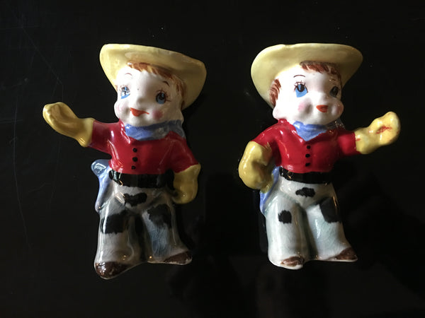 Cowboy Novelty Western Figural Salt and Pepper Shakers Set