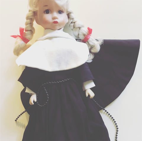 Darice Nun Doll Religious Paulee Vintage Toy Decor