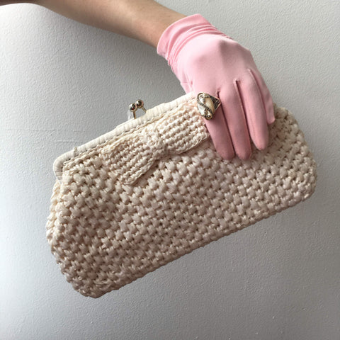 Dayne Taylor Clutch White Bag Vintage Accessories