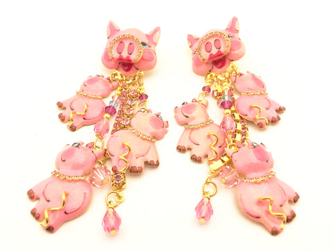 Lunch at the Ritz Earrings Couture This Little Piggy Whimsical Jewelry