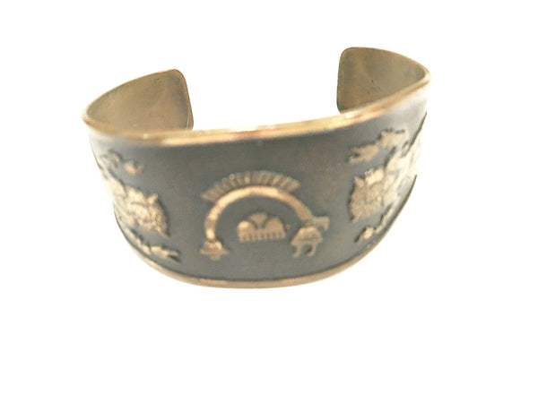 Solid Copper Tribal Cuff Vintage Jewelry
