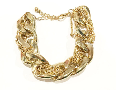 Golden Chain Link Bracelet Vintage Jewelry
