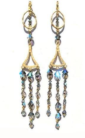Sugar Gay Isber Swarovski Drama Earrings Contemporary Jewelry