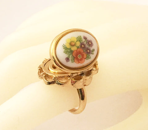 avon vintage jewelry locket poison perfume ring