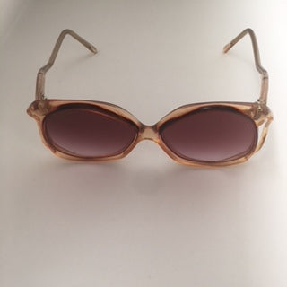 Brown Translucent Sunglasses Vintage Accessory