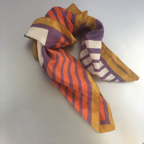 Multi-Color Stripe Scarf Vintage Accessory