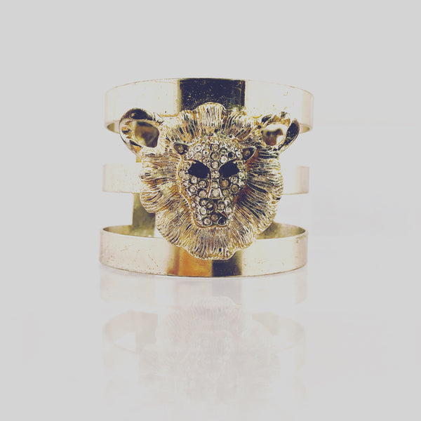 Lion Head Cuff Bracelet Vintage Jewelry