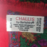 Challis by Berkshire European Shawl Scarf Vintage Accessory made in Japan