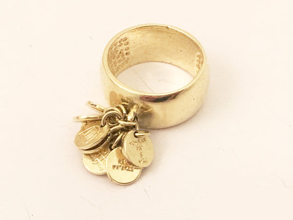 Religious Ring 10 Commandments 10 Mandamentos Vintage Jewelry